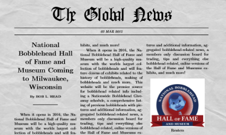 Bobblehead Newspaper