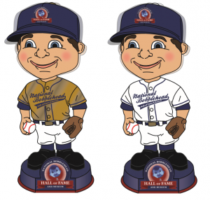 Bobblehead HOF Gold and White
