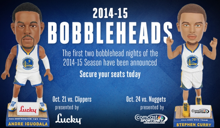 2014-08-22 Warriors Bobbleheads